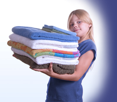 Folded kids clothes